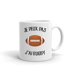 Mug / Tasse je peux pas j'ai rugby