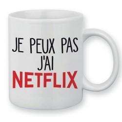 Mug / Tasse je peux pas j'ai Netflix Séries Addict
