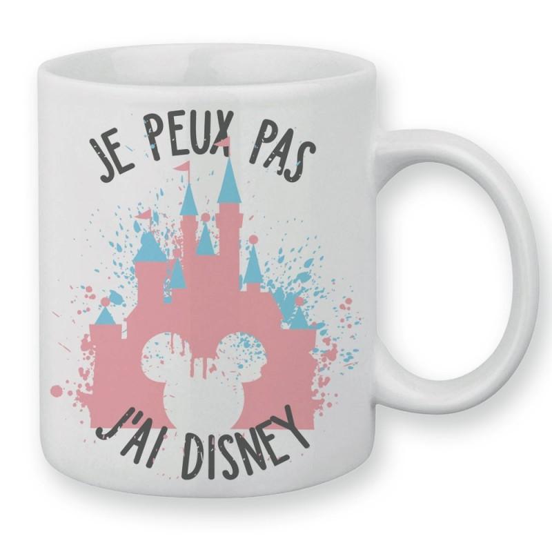 Mug / Tasse je peux pas j'ai Disney  Château pastel et tête de mickey