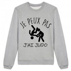 Sweat J'peux pas j'peux pas J'ai Judo Gris / Blanc / Rose - Pull
