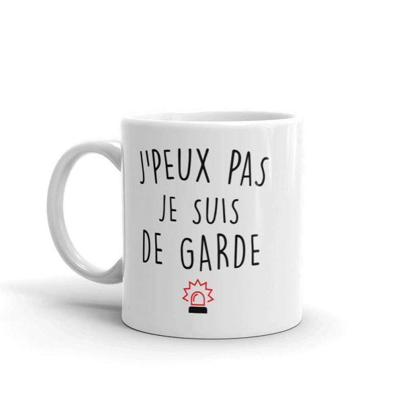 Mug / Tasse je peux pas je suis de garde
