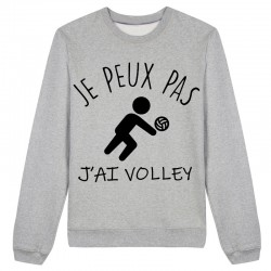 Sweat J'peux pas j'peux pas J'ai volley Gris / Blanc / Rose - Pull
