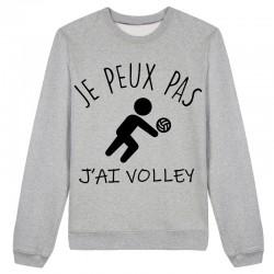 Sweat J'peux pas j'peux pas J'ai volley Gris / Blanc / Rose - Pull