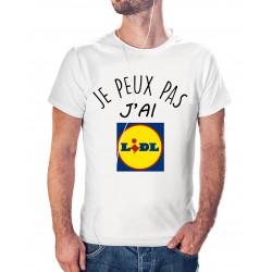 T-shirt j'peux pas j'ai Lidl - cadeau homme course