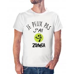 T-shirt j'peux pas j'ai Zumba - cadeau homme danse musique