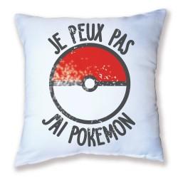 Coussin Je peux pas j'ai Pokemon - Sérial Dresseur