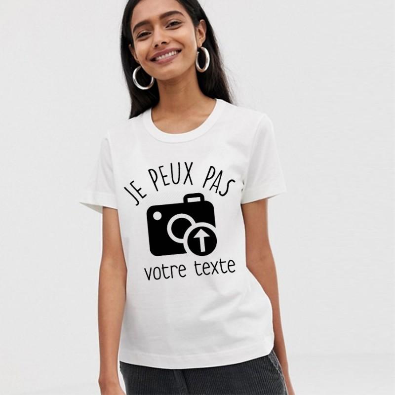 T-Shirt je peux pas à personnaliser avec votre photo, image, icône - Femme Cadeau