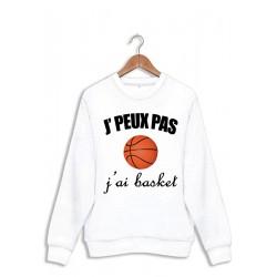 Sweat J'peux pas j'peux pas J'ai basket ball - Pull