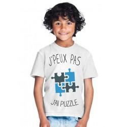 T-shirt Je peux pas j'ai puzzle - Cadeau enfant fille et garçon