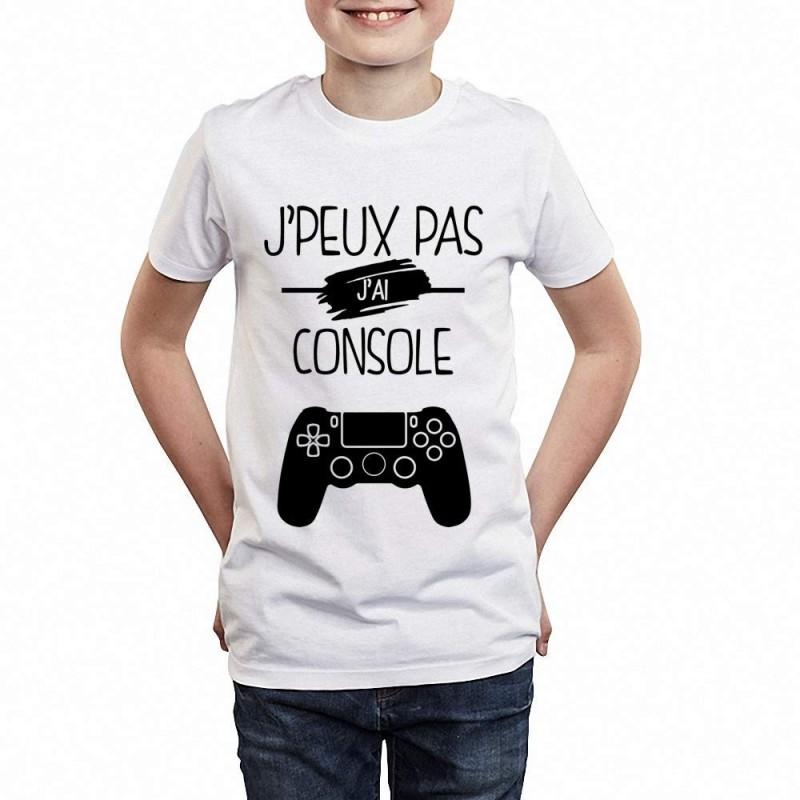 T-shirt Je peux pas j'ai console - Cadeau jeu vidéo enfant fille et garçon