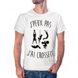 T-shirt j'peux pas j'ai crossfit - cadeau homme sportif