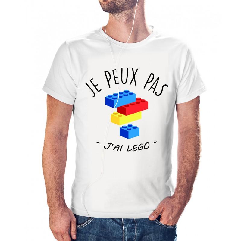 T-shirt j'peux pas j'ai lego - cadeau homme jeu construction