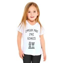 T-shirt Je peux pas j'ai échecs - Cadeau enfant fille et garçon